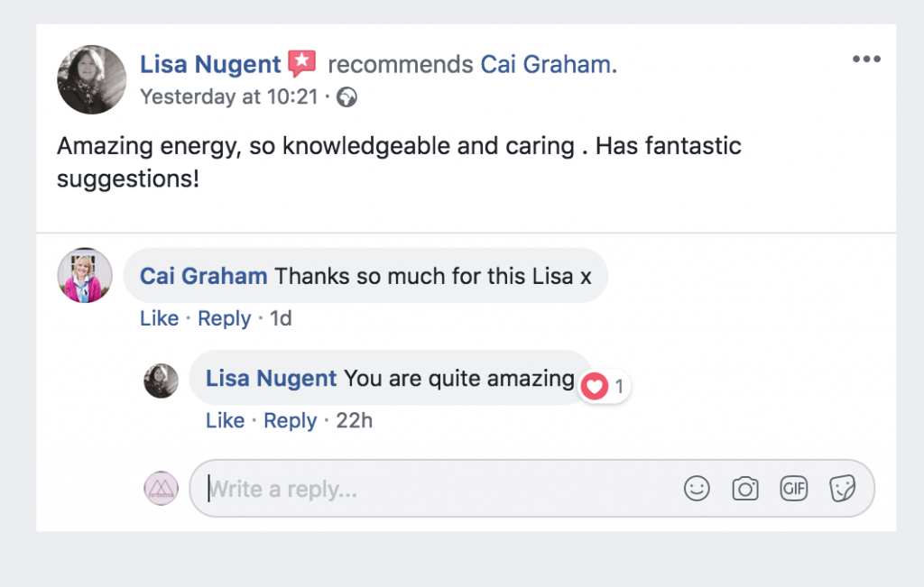 Testimonial 5star Review Lisa N